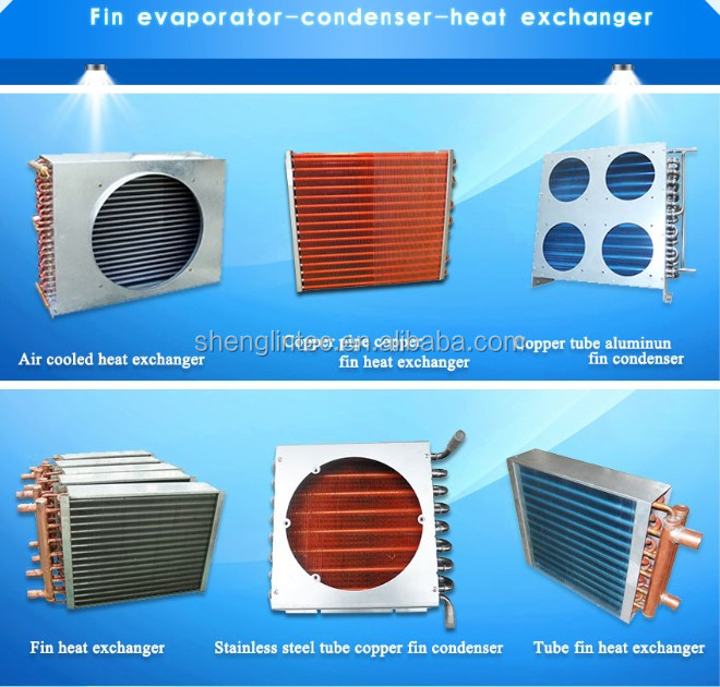air to air heat exchangers with copper tubing aluminum fins