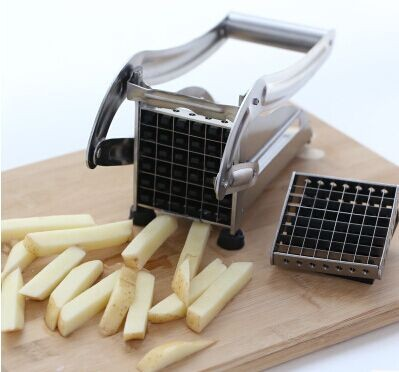 Manual french fry potato chipper cutter