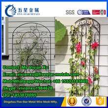2016 Wholesale supply Decorative good quality Garden Wrought iron Metal trellis for climbing planter