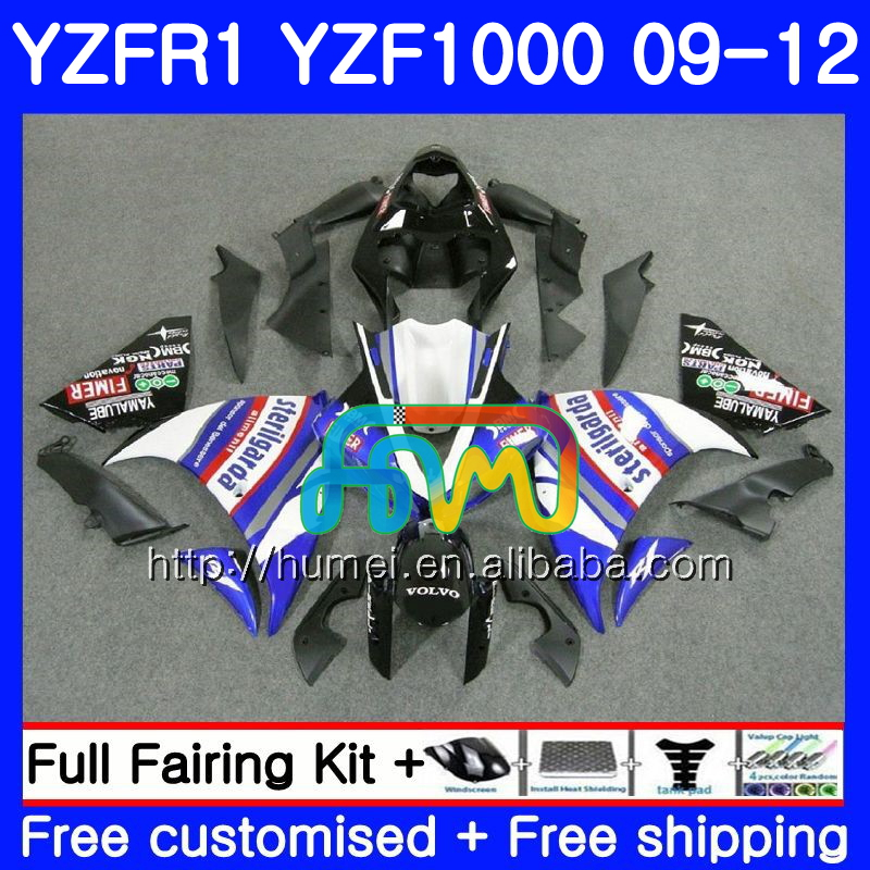 Body For YAMAHA YZF-<strong>R1</strong> YZF-1000 YZF blue white <strong>R1</strong> <strong>09</strong> 10 11 12 104HM43 YZF1000 R 1 YZF 1000 YZFR1 2009 2010 2011 2012 Fairing