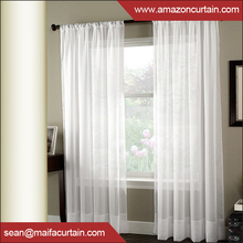 "Latest curtain fashion designs Solid White Sheer Window Curtains, drapes, panels, treatment 60""x 84"" (Set of 2 Panels)"
