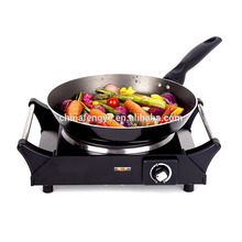 Single hot plate with cool touch handles