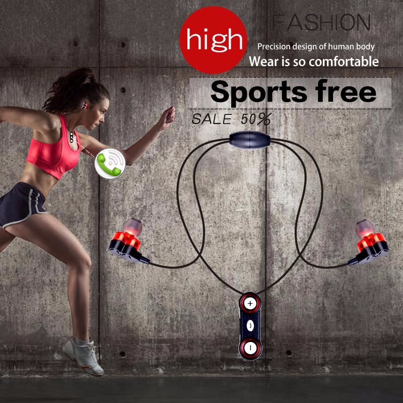 2017 NEW ideal Magnet Attraction Sport earbuds with 4 horn super bass sound quality