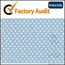 100%cotton light blue polka dot fabric