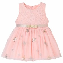 2017 Summer party dresses girls clothing chiffon dresses Children's clothing kids frocks