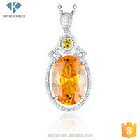 New arrival various yellow Crystal quartz chakra pendants wholesale