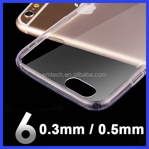 2016 Ultra Thin Clear Transparent Soft Phone Case For iphone7, For iphone 7 Flexible TPU Back Case Cover