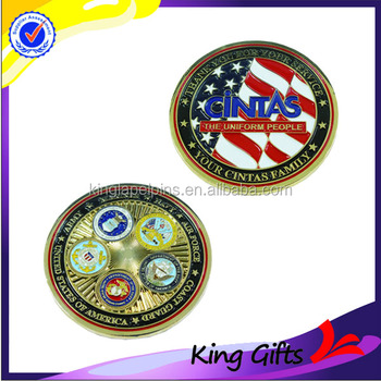 Custom gold plated metal challenge coin with cheap price