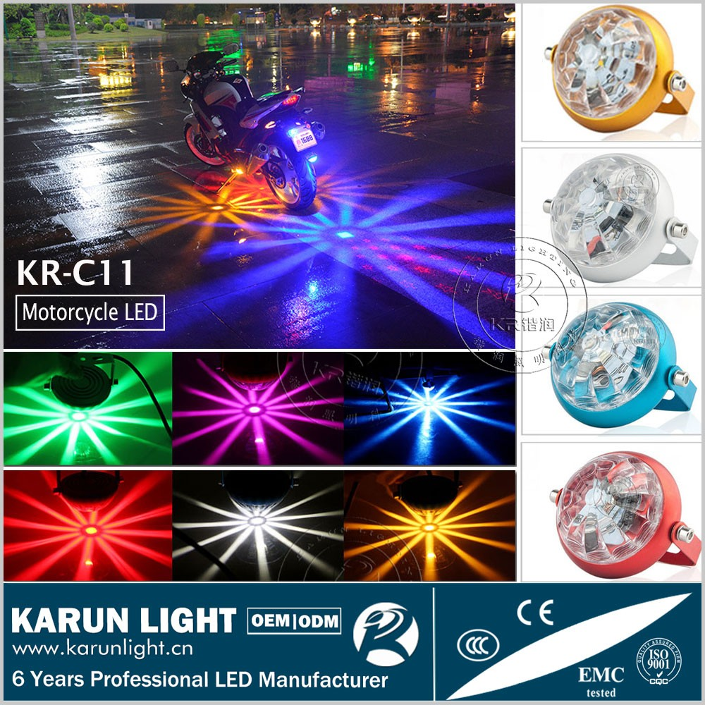 2017 Super Cool White, Green, Pink, Yellow, Red, Blue lampadas de led for moto