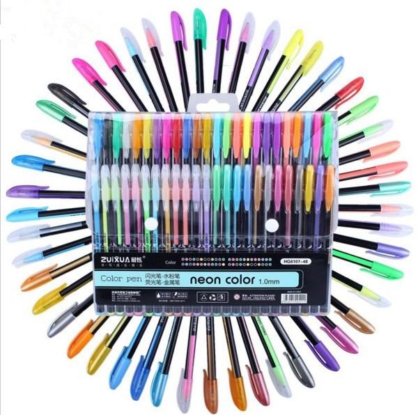 neon glitter sketch drawing color pen school stationery marker