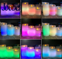 Aromatherapy Type and Stearin Wax Material Candle Wedding Decoration Pillar Candles with Timer