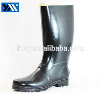 Hot Sale Cheap Women Black Rubber Half Knee Rain Waterproof Boots with high quality