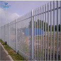 2.4m high palisade fencing galvanised 3mm D section 50mm x 50mm rails