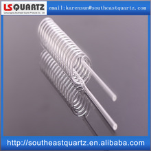 Customized quartz helix pipe for lamps