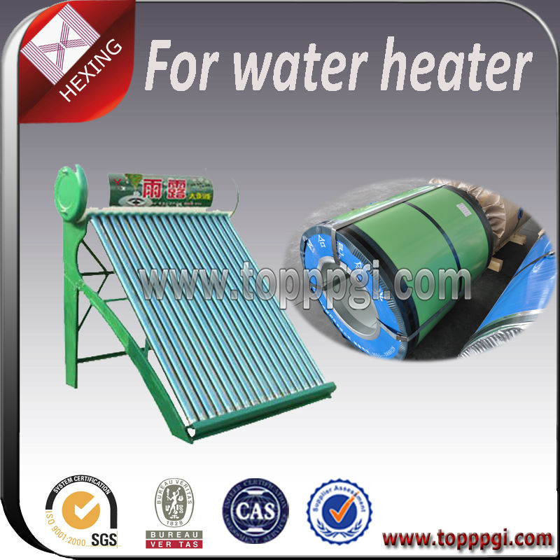 Hot Selling Pre Painted Galvanized Steel Plate For Water Heater Surface Material