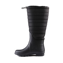china wholesale women plaid boots new design ladies sponge lining rain boots
