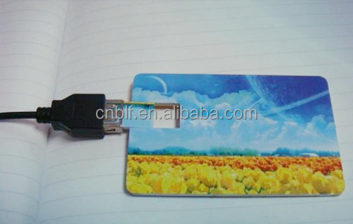 Good price custom full color print 8gb credit card usb flash drive