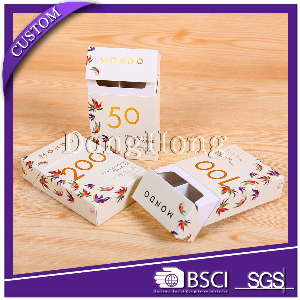 Cardboard packaging paper cigarette case