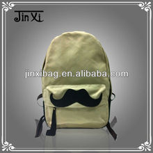 Latest design humorous canvas durable massage backpack with black beard
