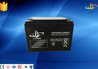 High power battery 12v 24ah rechargeable sealed lead acid GEL storage solar battery agm battery 12v
