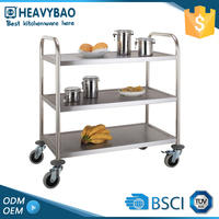 Stainless Steel Knocked-Down Mobile Tool Cast Hand Shifting Trolley