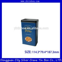 Rectangular tin box for delicious cookie/ biscuit tin container