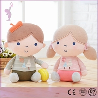 2017 Alibaba New design Stuffed plush fashion rag human dolls for wholesale