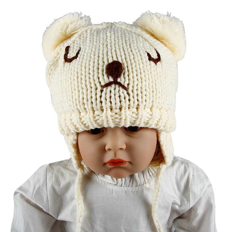 Fashion Winter Lovely Unisex Baby Bear Beanie Hat Cap