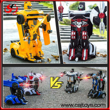 Intelligent Shape Shifting Robot 2.4G RC Distortion Deformation Stunt Cars Remote Robot Toys Transform Car