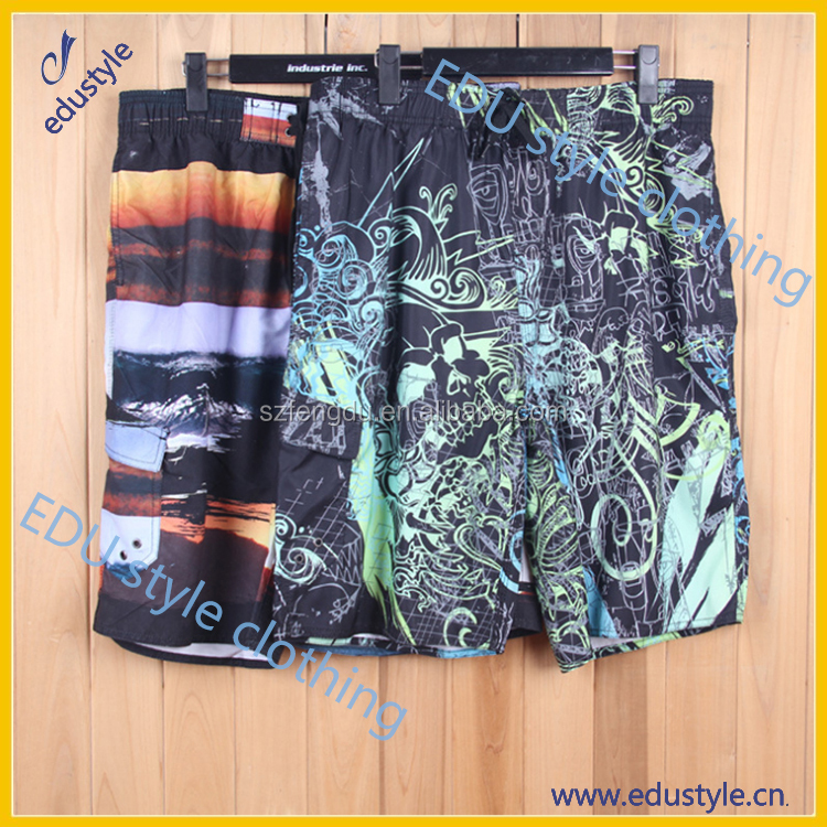 100% polyester custom printing wholesale men swim shorts