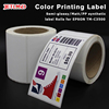 label sticker custom , Matte inkjet paper,Glossy photo paper and synthetic paper stickers