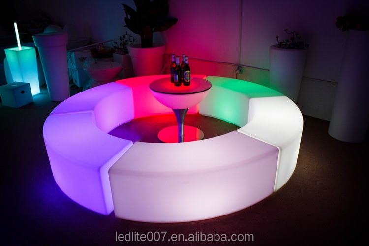 Outdoor LED Bar Lighting Plastic Furniture PE Furniture best selling products in america