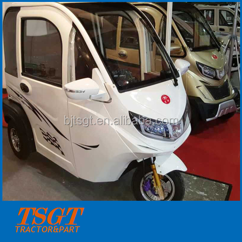 leather seat 3 people battery power tuk tuk with 48v/60v motor cool appearance for cabin