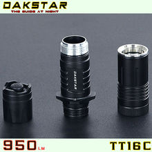 DAKSTAR TT16C 950LM CREE XML T6 18650 Superbright Emergency Aluminum Tactical LED Rechargeable Flashlight Housing