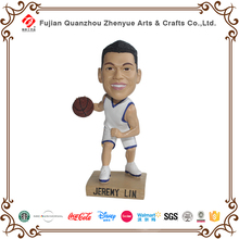 Custom resin crafts bobble heads famous 3D Jereny Lin basketball player bobble head