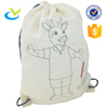 Hot sale natural eco cotton mini drawstring small bag
