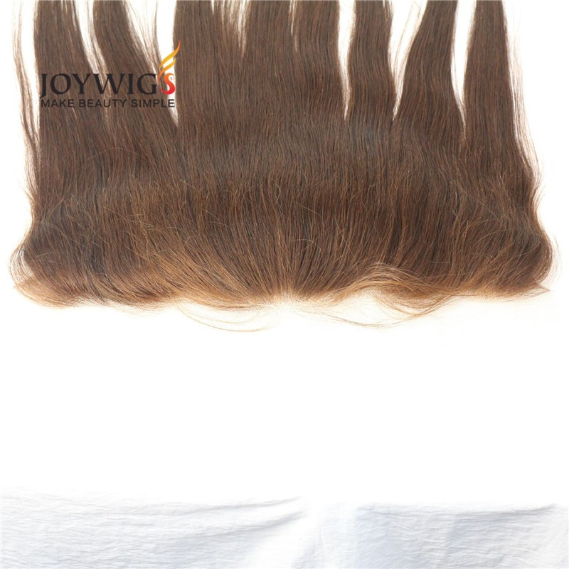 2017 Qingdao factory Big sales 10A grade Indian human hair 130% density brown silk straight lace frontal