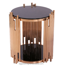 stainless steel end table living room delicate round side table