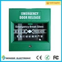 Security garage emergency door release door alarm systems