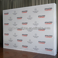 Seamless fabric pop up display banner