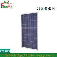 New item solar panel 250w CE solar panels Fanghe solar panel for sale