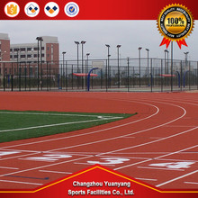 Hot selling sport facility sandwich athletic running track surface polyurethane sports surfaces for wholesales