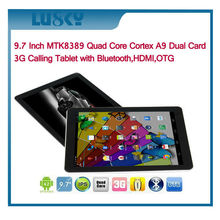 China factory price ultimate Lucky8 MTK8382 android 4.2 Qual Core 9.7 inch tablet with wifi