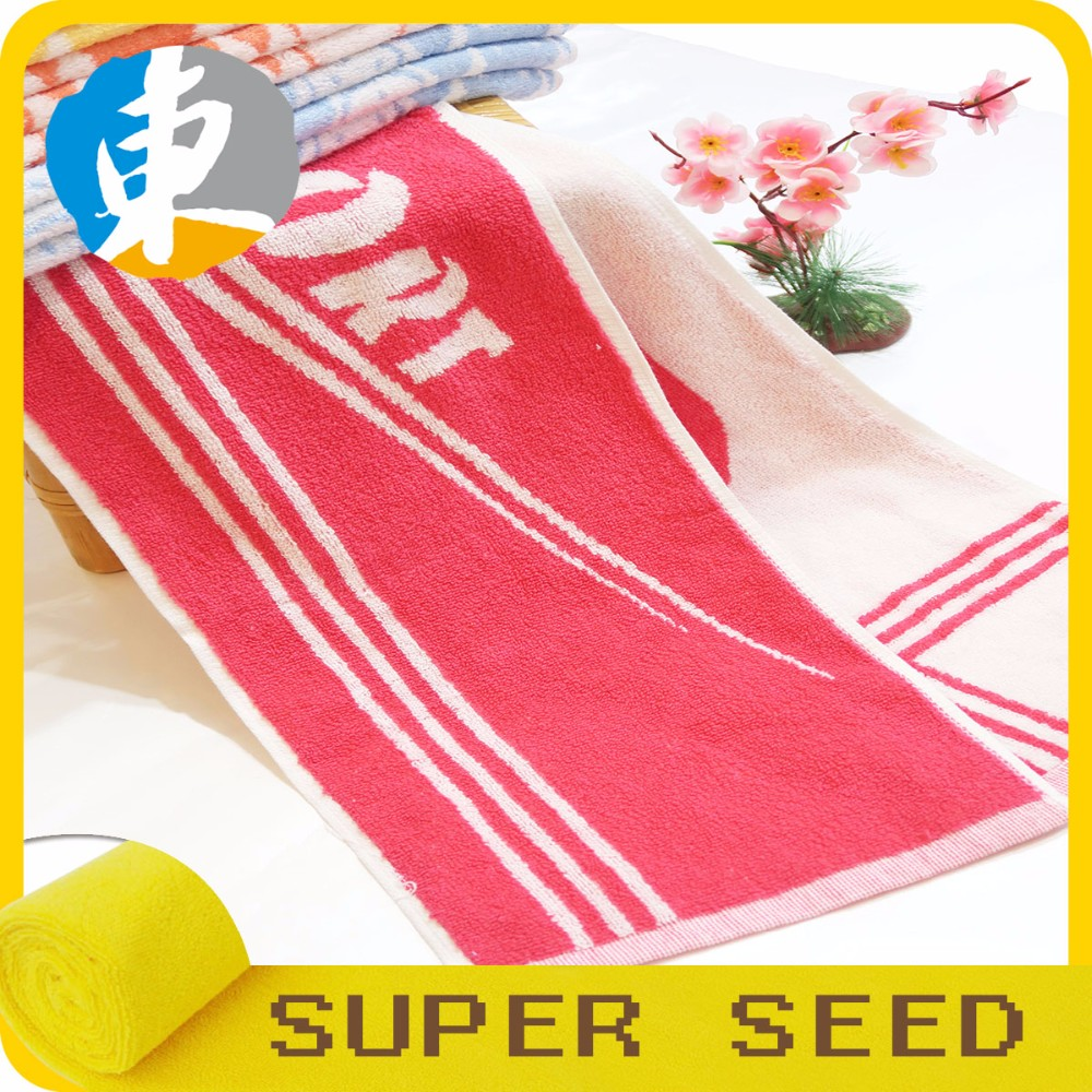 Cotton terry pink face towel for thick sport hand towel