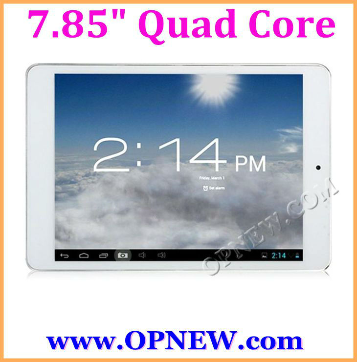 HOT 7.9 inch Quad Core Tablet PC Retina IPS 4:3 Capacitive ATM 7029 1.62Ghz Bluetooth, Wi-Fi, HDMI, External 3G,1024*768 OPNEW