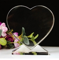 Fashion Design Heart Shaped Crystal Glass Awards And Trophies