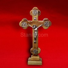 Table crucifix cross With Apostles of Christ plates 16cm