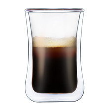 AIHPO05 Reusable Fancy Custom Ice Cream Pyrex Borosilicate Double Wall Drinking Glass Late Cappuccino Coffee Cup