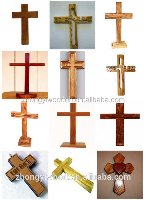 Trade assurance customized unfinished small wooden cross wholesale