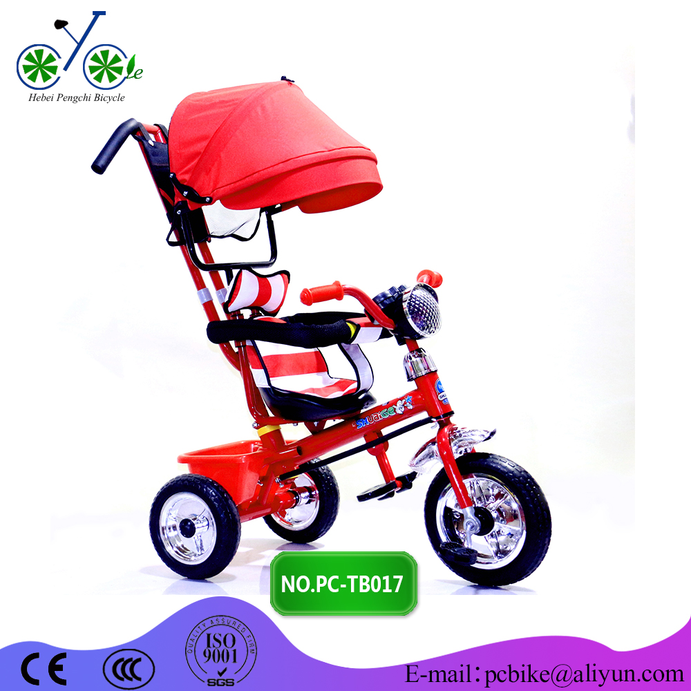 Cheap kids tricycle with roof children tricycle singapore baby tricycle Canton fair